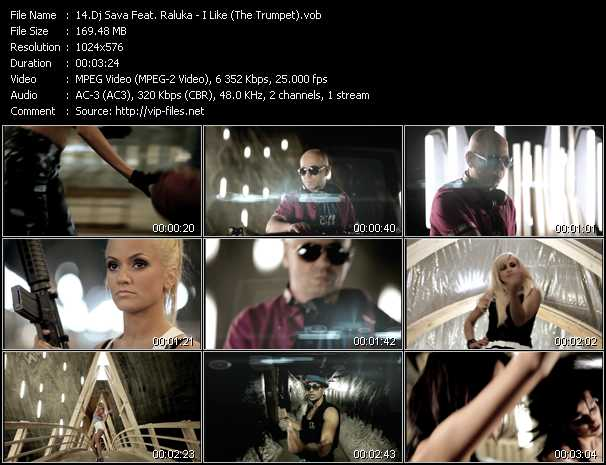download Dj Sava Feat. Raluka « I Like (The Trumpet) » video vob