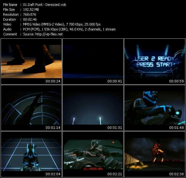 video Derezzed screen