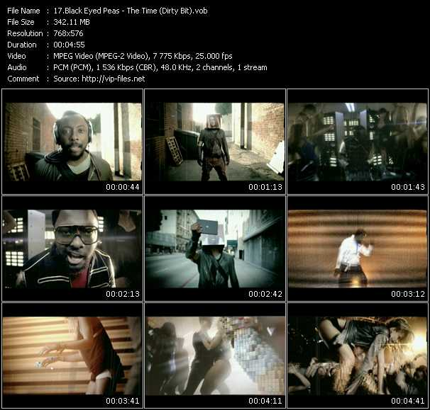 download Black Eyed Peas « The Time (Dirty Bit) » video vob