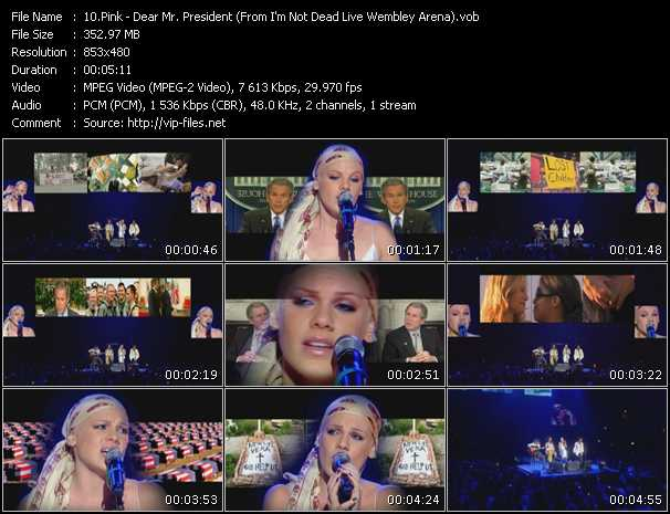video Dear Mr. President (From I'm Not Dead Live Wembley Arena) screen