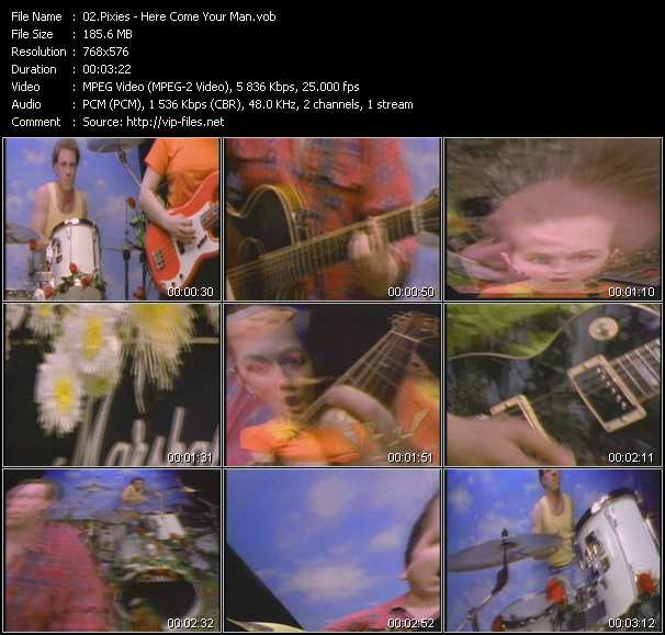 download Pixies « Here Come Your Man » video vob