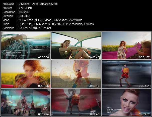 download Elena « Disco Romancing » video vob