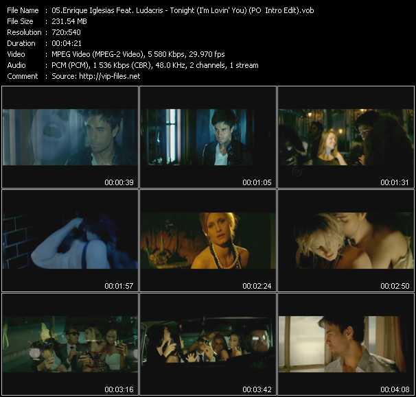 download Enrique Iglesias Feat. Ludacris « Tonight (I'm Lovin' You) (PO Intro Edit) » video vob