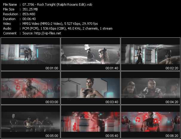 download J786 « Rock Tonight (Ralphi Rosario Edit) » video vob