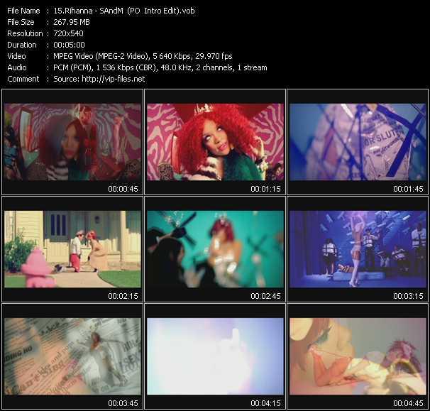 download Rihanna « S And M (PO Intro Edit) » video vob