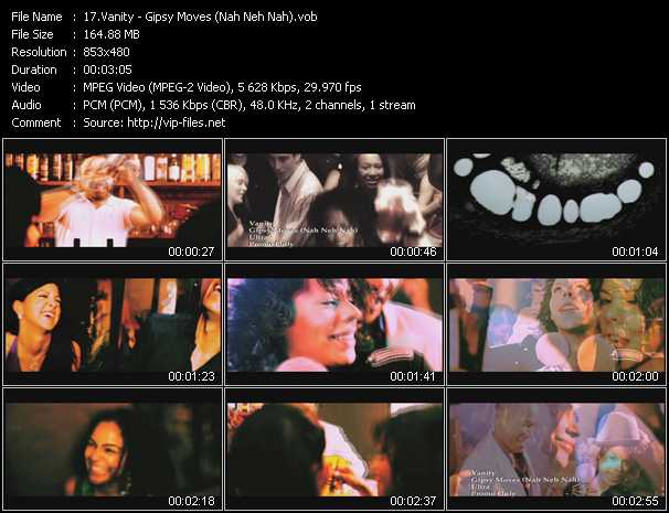 download Vanity « Gipsy Moves (Nah Neh Nah) » video vob