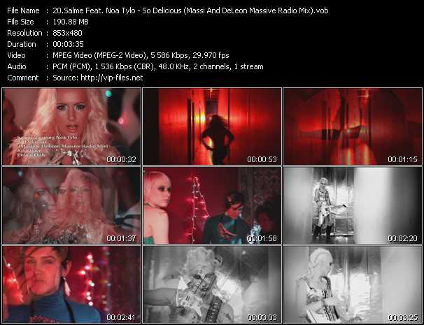 download Salme Feat. Noa Tylo « So Delicious (Massi And DeLeon Massive Radio Mix) » video vob