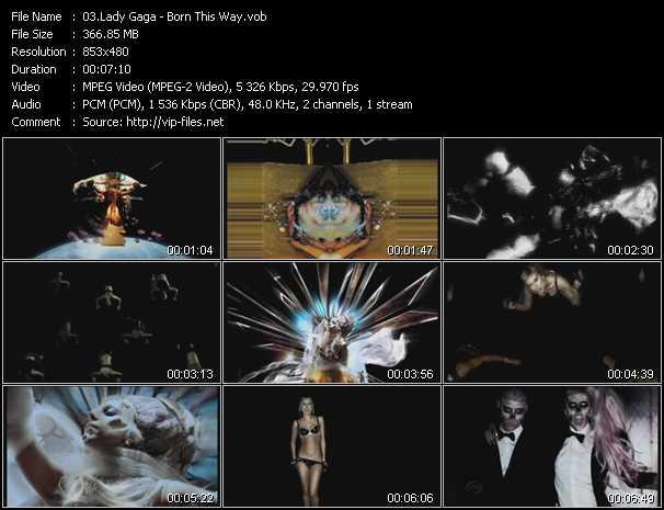download Lady Gaga « Born This Way » video vob