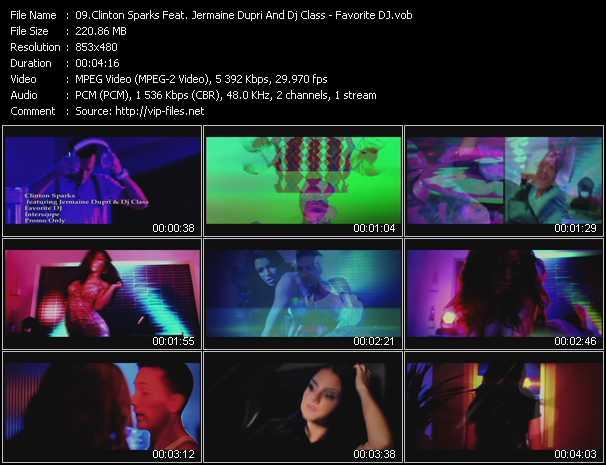 video Favorite DJ screen