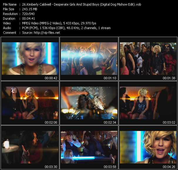 video Desperate Girls And Stupid Boys (Digital Dog Mishow Edit) screen