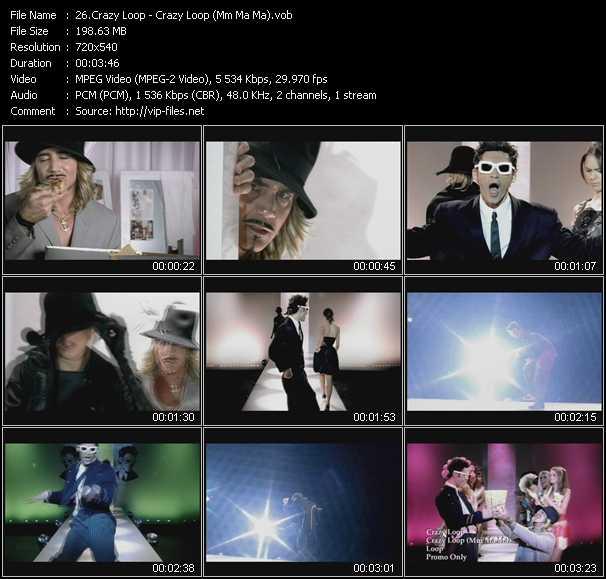 video Crazy Loop (Mm Ma Ma) screen