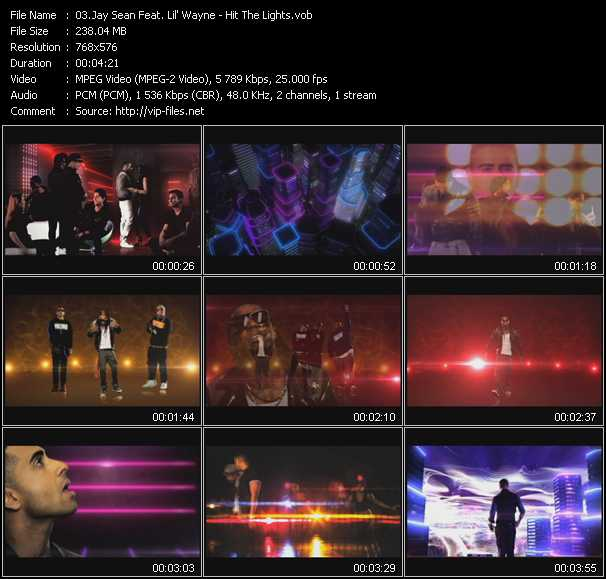 download Jay Sean Feat. Lil' Wayne « Hit The Lights » video vob