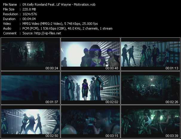 download Kelly Rowland Feat. Lil' Wayne « Motivation » video vob