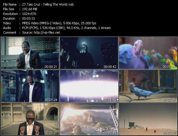 download Taio Cruz « Telling The World » video vob