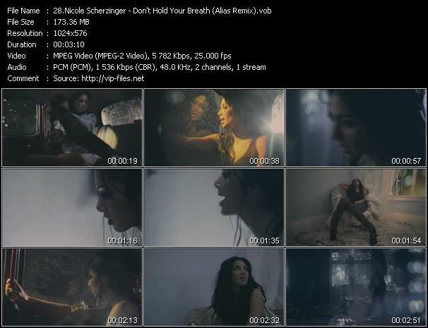 download Nicole Scherzinger « Don't Hold Your Breath (Alias Remix) » video vob
