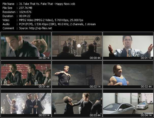 download Take That Vs. Fake That « Happy Now » video vob