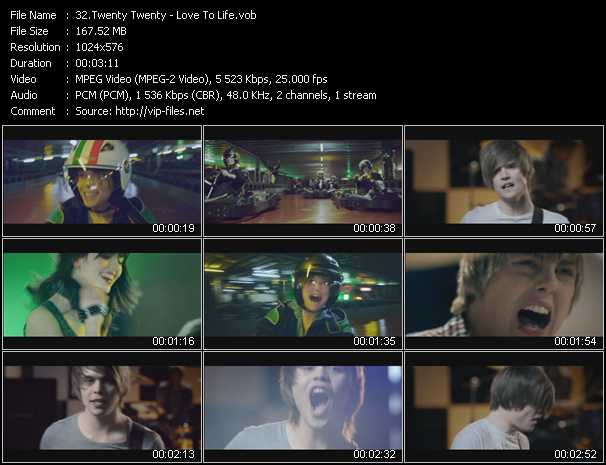 download Twenty Twenty « Love To Life » video vob