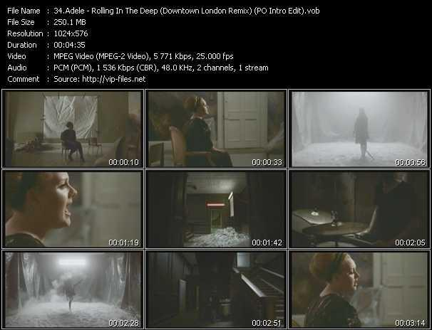 video Rolling In The Deep (Downtown London Remix) (PO Intro Edit) screen