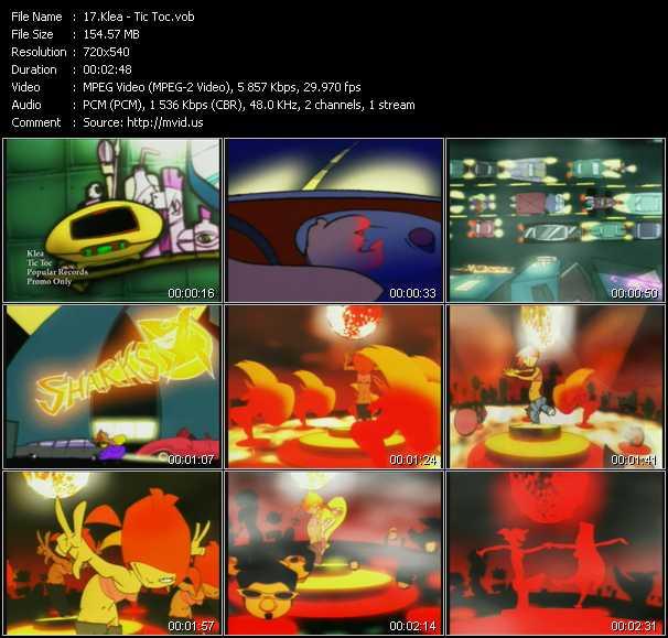 video Tic Toc screen