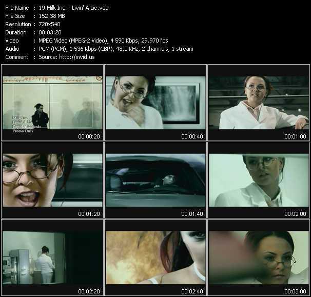 video Livin' A Lie screen