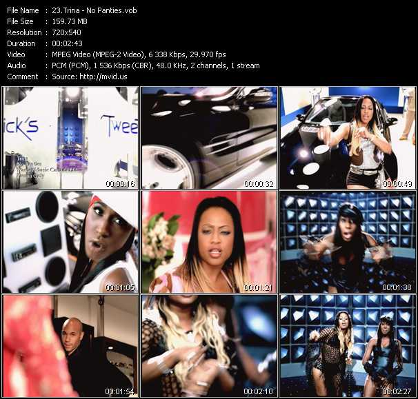 download Trina « No Panties » video vob