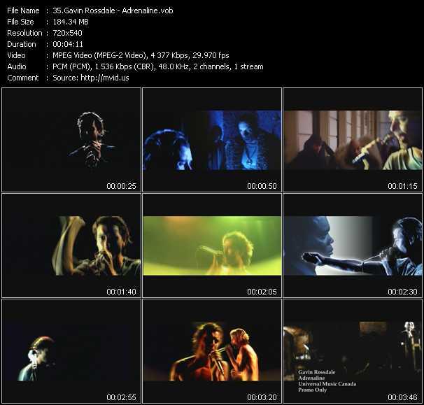 video Adrenaline screen