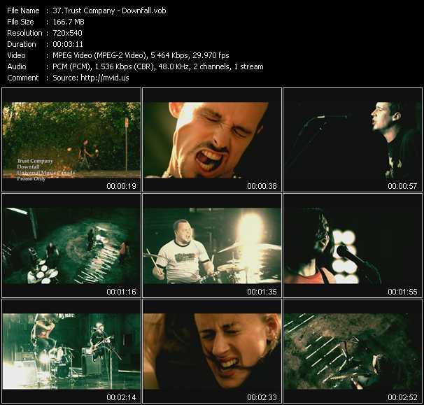 video Downfall screen