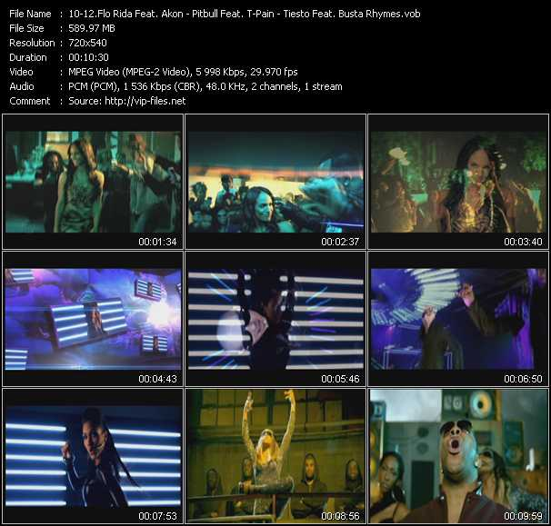 download Flo Rida Feat. Akon - Pitbull Feat. T-Pain - Tiesto Feat. Busta Rhymes « Who Dat Girl - Hey Baby (Drop It To The Floor) - C'mon (Catch Em By Surprise) » video vob