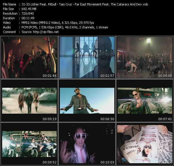 download Usher Feat. Pitbull - Taio Cruz - Far East Movement Feat. The Cataracs And Dev « DJ Got Us Fallin' In Love (PO Intro Edit) - Dynamite (PO Intro Edit) - Like A G6 » video vob