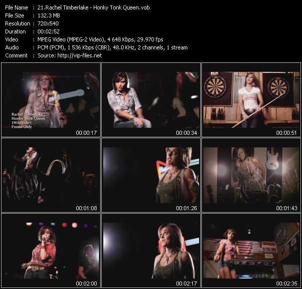 download Rachel Timberlake « Honky Tonk Queen » video vob