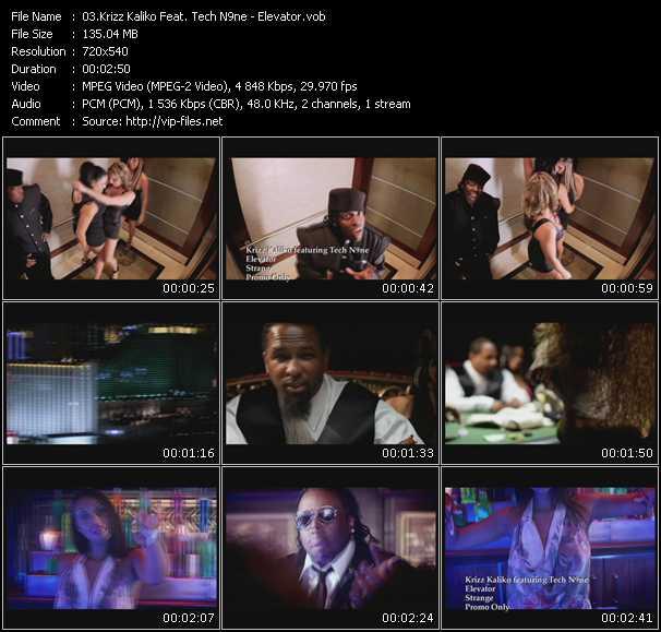 download Krizz Kaliko Feat. Tech N9ne « Elevator » video vob