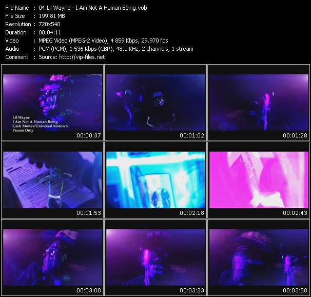 download Lil' Wayne « I Am Not A Human Being » video vob
