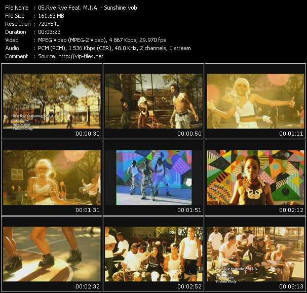 download Rye Rye Feat. M.I.A. « Sunshine » video vob
