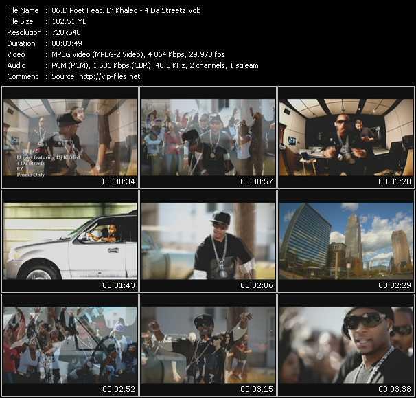 download D Poet Feat. Dj Khaled « 4 Da Streetz » video vob
