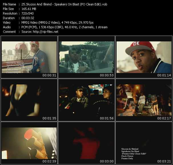 download Skyzoo And Illmind « Speakers On Blast (PO Clean Edit) » video vob