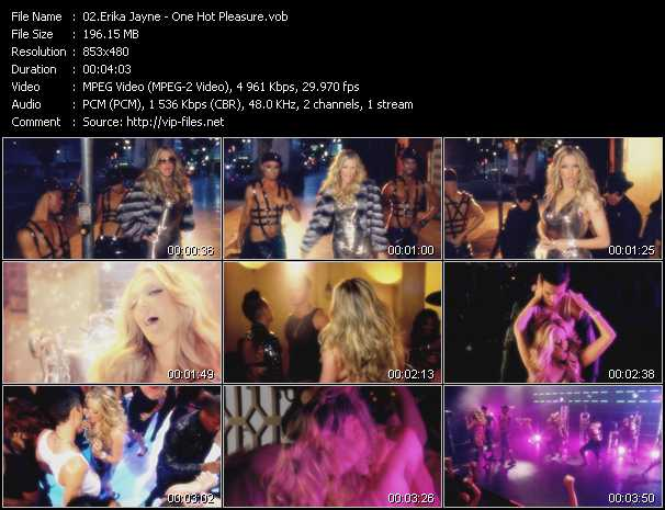 download Erika Jayne « One Hot Pleasure » video vob