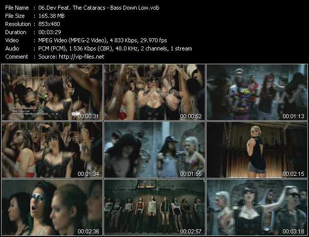 download Dev Feat. The Cataracs « Bass Down Low » video vob