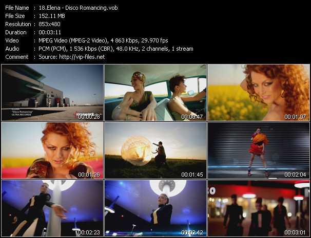 download Elena « Disco Romancing » video vob
