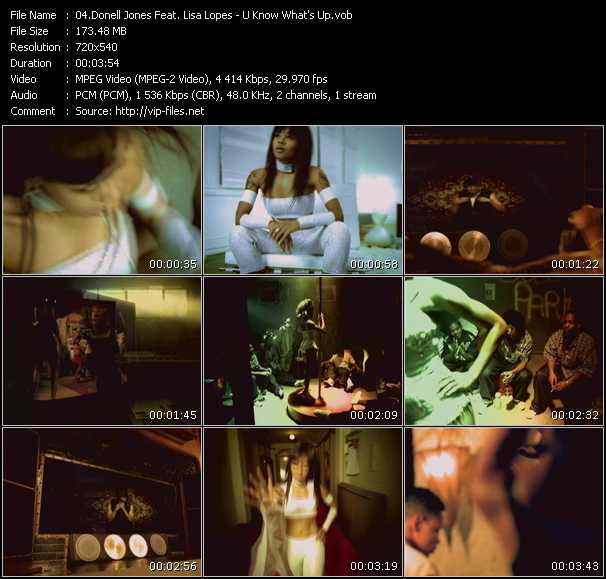 download Donell Jones Feat. Lisa Left Eye Lopes « U Know What's Up » video vob