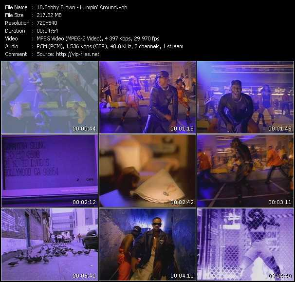 download Bobby Brown « Humpin' Around » video vob
