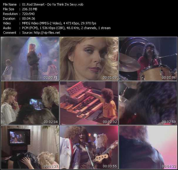 download Rod Stewart « Do Ya Think I'm Sexy » video vob