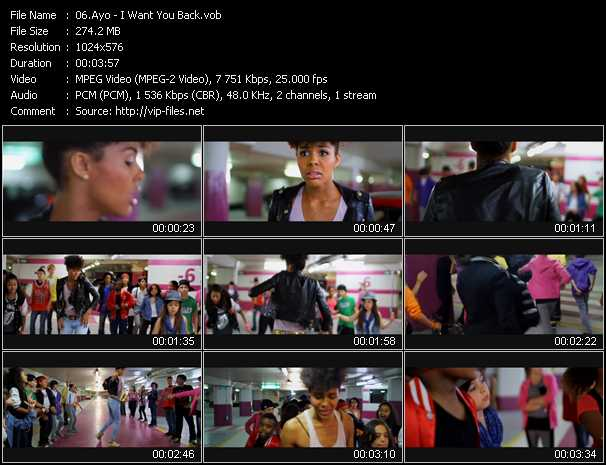 download Ayo « I Want You Back » video vob
