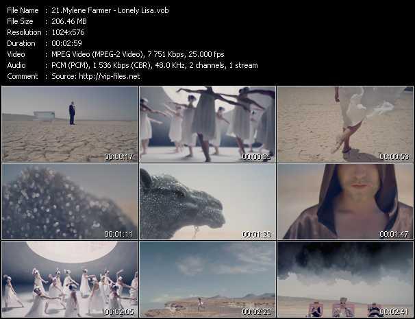 download Mylene Farmer « Lonely Lisa » video vob