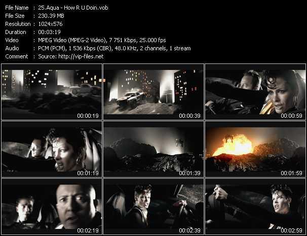 download Aqua « How R U Doin » video vob