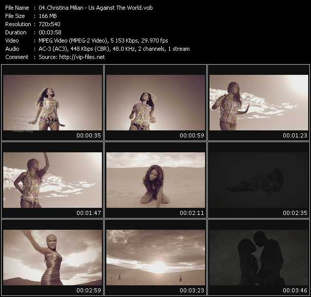 download Christina Milian « Us Against The World » video vob