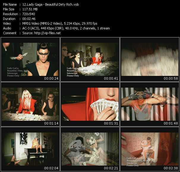 video Beautiful Dirty Rich screen