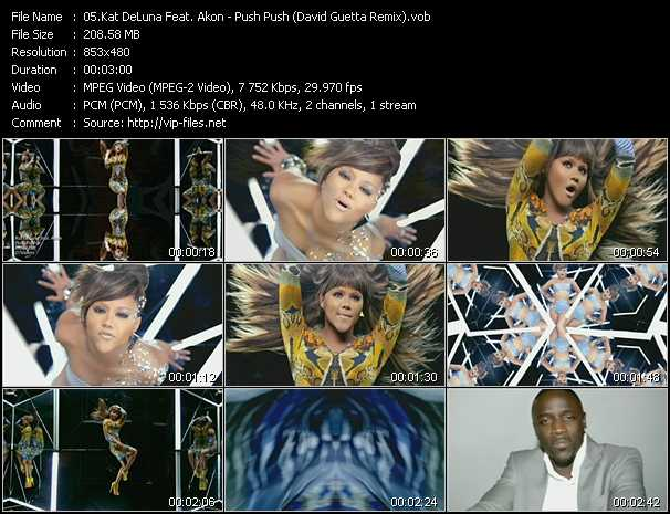 download Kat DeLuna Feat. Akon « Push Push (David Guetta Remix) » video vob