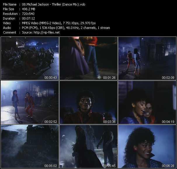 video Thriller (Dance Mix) screen