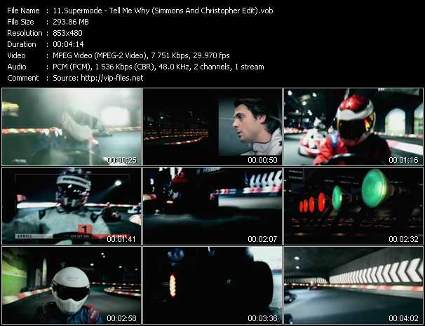 download Supermode « Tell Me Why (Simmons And Christopher Edit) » video vob