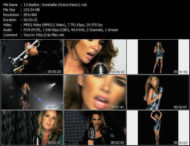 download Nadine « Insatiable (Wawa Remix) » video vob
